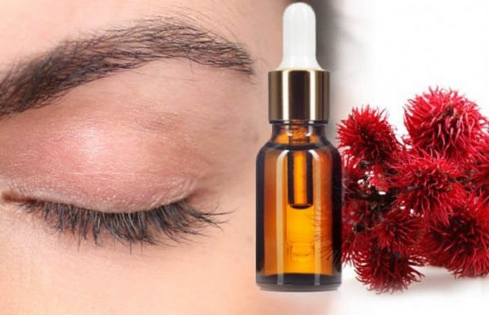Castor oil makes grow thick eyebrows