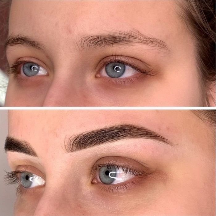 eyebrow tattoo permanent coloring is to improve the appearance of the eyebrows