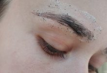 How to remove clear residue from my face after applying eyebrow stickers